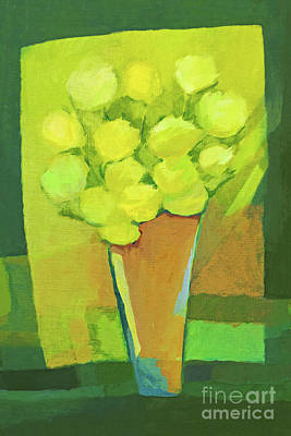 Flower Abstract Painting - Spring Flowers by Lutz Baar