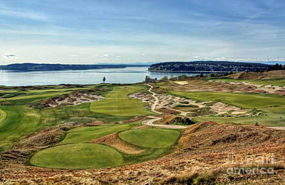 Us Open Photograph - Spring Golf - Chambers Bay Golf Course by Chris Anderson
