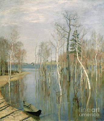 River View Painting - Spring High Water by isaak Ilyich Levitan