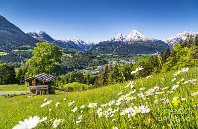 Town Photograph - Spring In The Alps by JR Photography