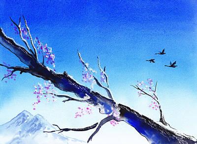 Goose Painting - Spring In The Mountains by Irina Sztukowski