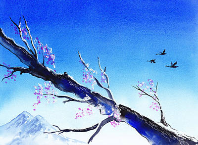 Geese Painting - Spring In The Mountains by Irina Sztukowski