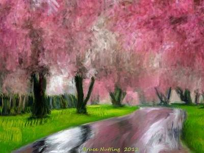 Tree Painting - Spring In The Rain by Bruce Nutting