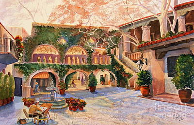 Spring In Tlaquepaque Print by Marilyn Smith