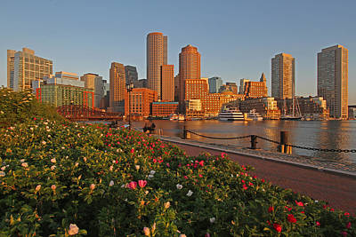 Spring Into Downtown Boston Print by Juergen Roth
