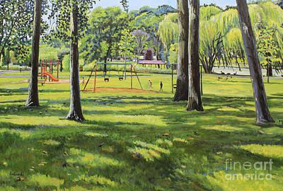 Swing Painting - Spring Lake Playground by William Bukowski