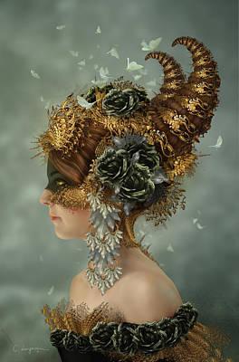 Cassiopeia Digital Art - Spring Masquerade by Cassiopeia Art