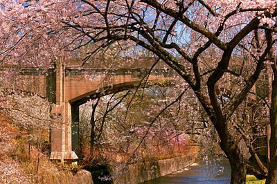 Spring - Meet Me Under The Bridge Print by Mike Savad