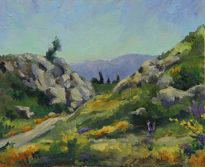 High Desert Painting - Spring In The Mountains by Maria Hunt