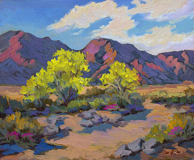 Spring Palo Verde Print by Diane McClary