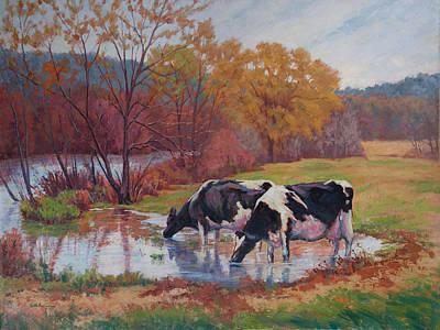 Spring Pastoral Original by Keith Burgess