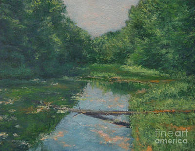 Painting - Spring Pond Reflection by Gregory Arnett