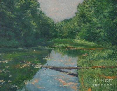 Spring Pond Reflection Print by Gregory Arnett