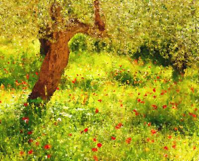 Spring Poppies Impressionism Print by Georgiana Romanovna