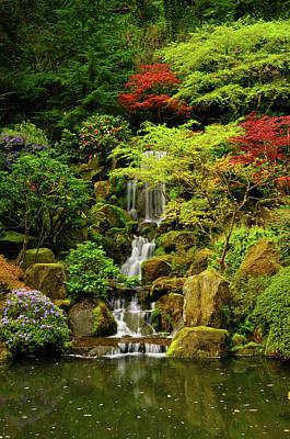 Spring, Portland Japanese Garden Print by Michel Hersen