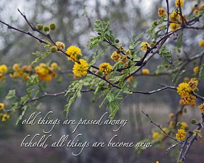 Spring Rebirth With Verse Print by Cheri Randolph