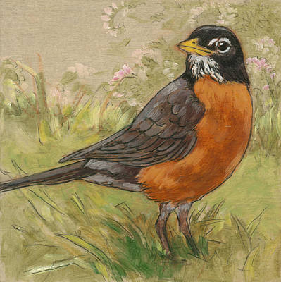 Robin Mixed Media - Spring Robin 1 by Tracie Thompson