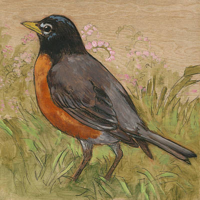 Robin Mixed Media - Spring Robin 2 by Tracie Thompson