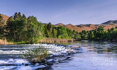 Spring Run Off On The Payette River Print by Robert Bales