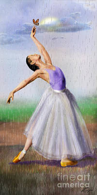 Ballet Painting - Spring Shower - Seasonal Winds Series 3 Of 4 by Reggie Duffie