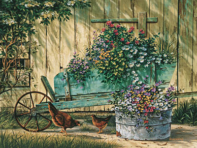 Quiet Painting - Spring Social by Michael Humphries