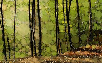 Spring Trees Print by Steven Boland