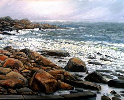 Spring Storm Old Garden Beach Rockport Ma Original by Eileen Patten Oliver