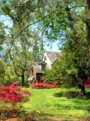 Shadow Photograph - Spring - Suburban House With Azaleas by Susan Savad