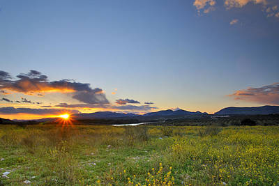 Spring Sunset In Andalucia Print by Guido Montanes Castillo
