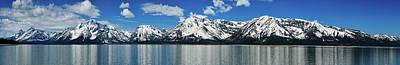 Spring Teton Panorama Print by Greg Norrell