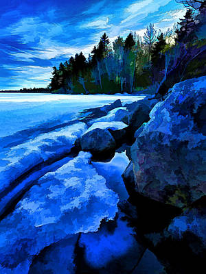 Digitally Manipulated Photograph - Spring Thaw by ABeautifulSky Photography