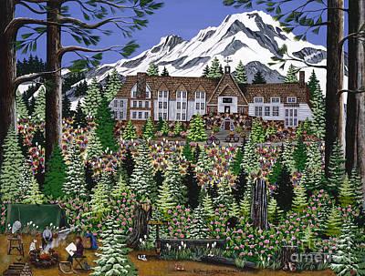 Ski Painting - Spring Time Timberline by Jennifer Lake