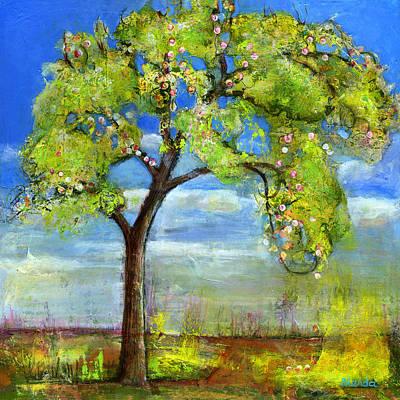 Sprinting Painting - Spring Tree Art by Blenda Studio