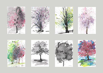 Painting - Spring Trees by Sumiyo Toribe