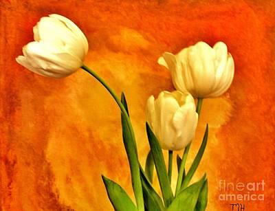 Wrap Digital Art - Spring Tulips by Marsha Heiken