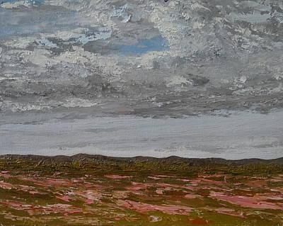 Verbena Painting - Spring Verbenas Near Sisterdale Tx by Pauly Tamez
