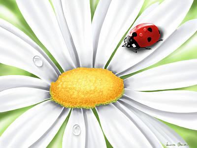Ladybug Painting - Spring by Veronica Minozzi