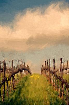 Spring Vineyard Print by John K Woodruff