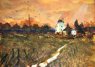Boardroom Painting - Spring Windmill by Susan Robinson
