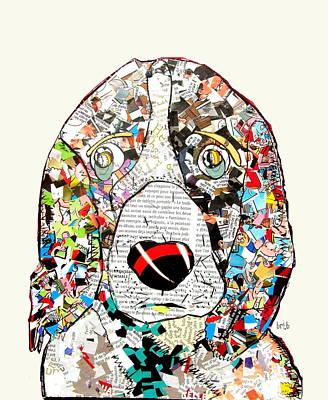 Hunting Dog Digital Art - Springer Spaniel Comic by Bri B