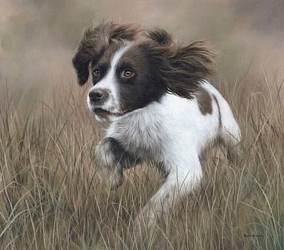 Springer Spaniel Painting - Springer Spaniel Painting by Rachel Stribbling