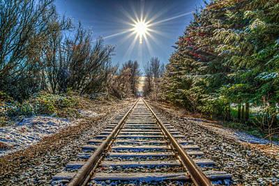 Train Tracks Photograph - Springhetti Railroad Tracks by Spencer McDonald