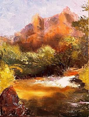 Springs In The Desert Print by Gail Kirtz