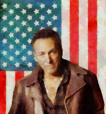 Bruce Springsteen Mixed Media - Springsteen American Icon by Dan Sproul