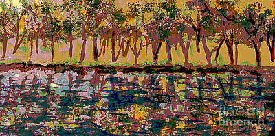 Springtime Along The Muddy River Print by Rita Brown