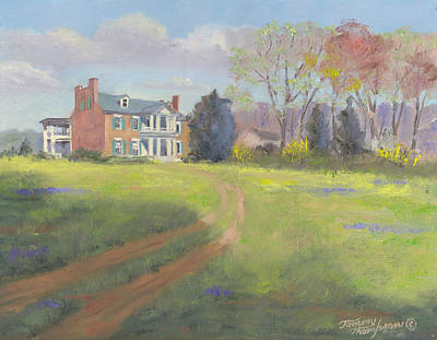 Carnton Plantation Painting - Springtime At Carnton by Tommy Thompson