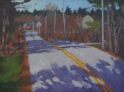 Springtime Country Road Print by Bill Tomsa