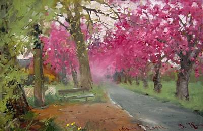Rain Barrel Painting - Fruhling Deutschland Nrw Nettetal by Volodymyr Klemazov
