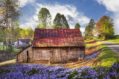 Old Country Roads Photograph - Springtime On The Farm by Debra and Dave Vanderlaan