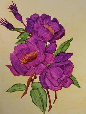 Ink Painting - Springtime Serenade by Linda Brown
